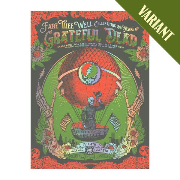 Fare Thee Well Run Poster 50 Screenprint - Variant