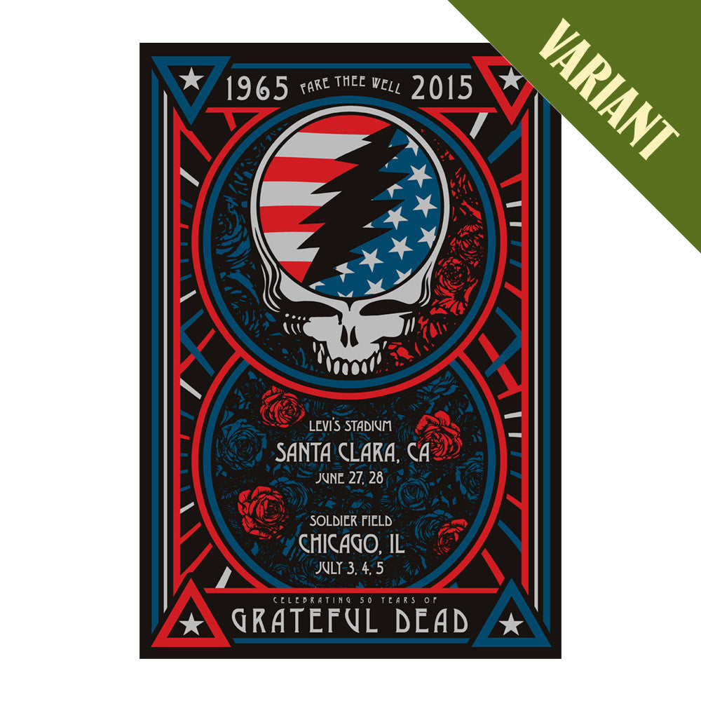 Fare Thee Well Steal Your Face Lithograph – Variant