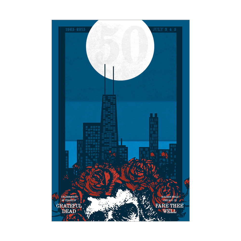 Fare Thee Well Cityscape Lithograph