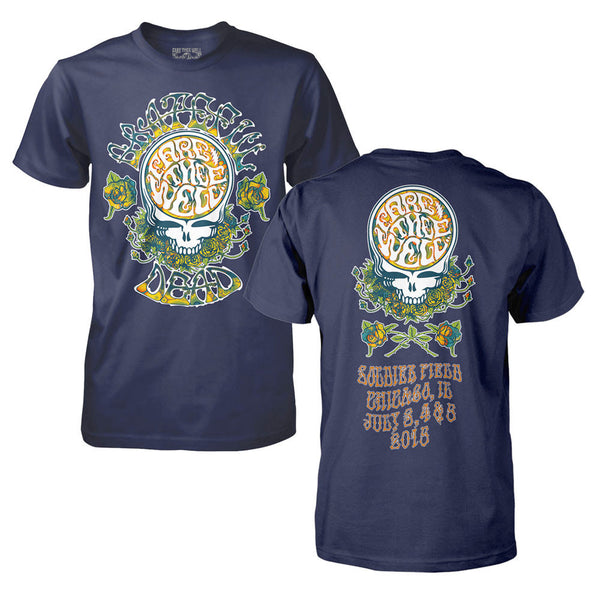 Fare Thee Well Type Flow Navy Tee