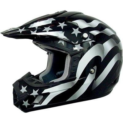 AFX FX17 Flag Helmet - X-Large - Flag Stealth [0110-2366]