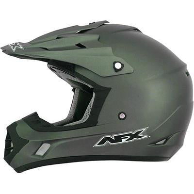 AFX FX17 Solid Helmet - Large - Flat Olive [0110-4449] - VMC Chinese Parts