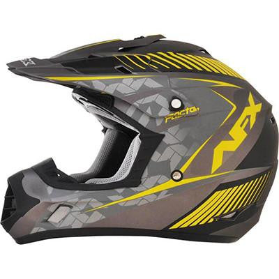 AFX FX17 Factor Helmet - Medium - Frost Gray Yellow [0110-4495] - VMC Chinese Parts