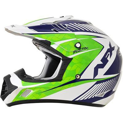 AFX FX17 Complex Helmet - Medium - Green Blue [0110-4554] - VMC Chinese Parts