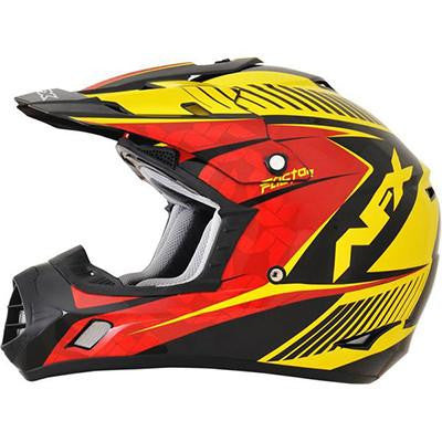 AFX FX17Y Factor Red Yellow Youth Helmet - Large - [0111-1030]