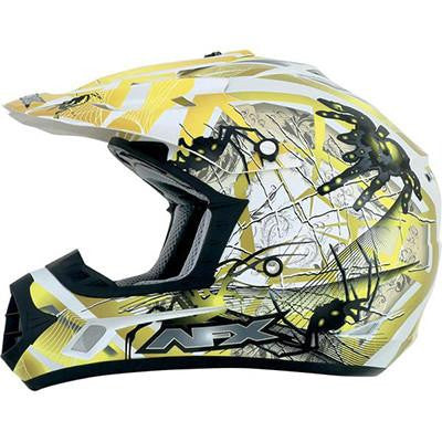AFX FX17Y Yellow Trap Spider Youth Helmet - Large - [0111-0862]