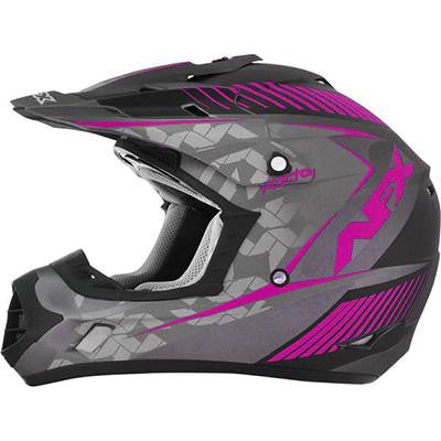 AFX FX17Y Factor Frost Fuchsia Youth Helmet - Large - [0111-1006]