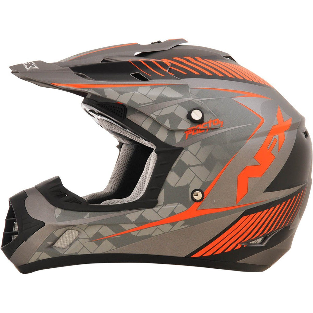 AFX FX17Y Factor Frost Orange Youth Helmet - Large - [0111-1012] - VMC Chinese Parts