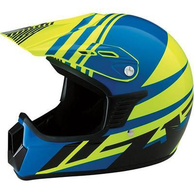 Z1R Roost SE Youth Helmet - Blue/Yellow - L/XL [0111-1034]