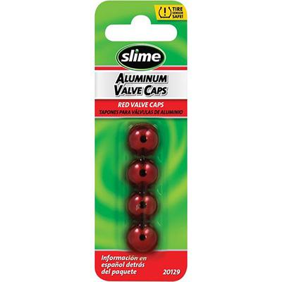 Slime Red Valve Stem Caps - 4 Pack - [0361-0074] - VMC Chinese Parts