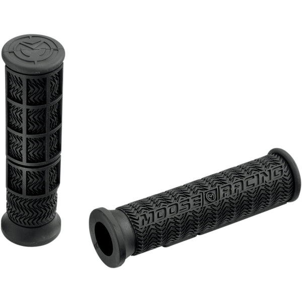 Moose Racing ATV Handlebar Stealth Grip Set - Black - [0630-0395] - VMC Chinese Parts