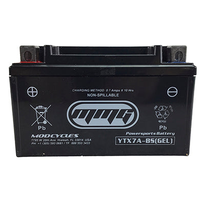 Battery 6Ah 12 Volt YTX7A-BS Gel - VMC Chinese Parts