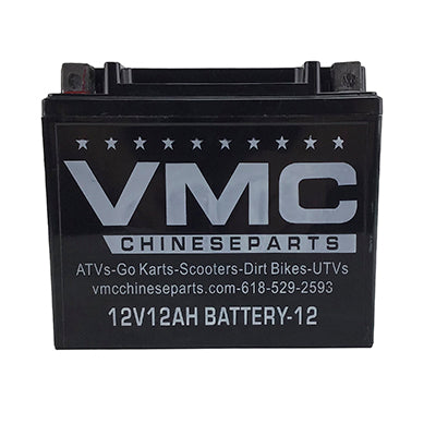 Battery 12Ah 12 Volt for ATV Go-Kart UTV