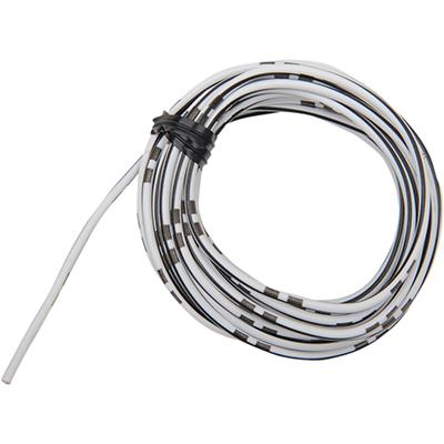 Shindy Products Colored Wire OEM - 14A - 13 Foot - WHITE/BLACK - [2120-0285]