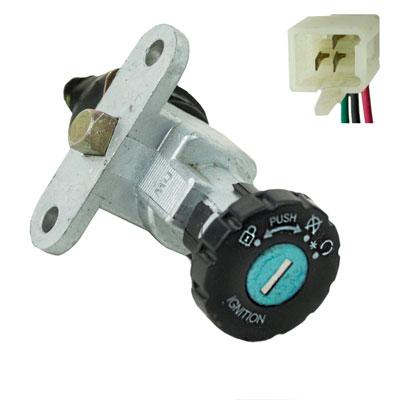 Ignition Key Switch - 4 Wire - Taotao CY50B Scooter - Version 50
