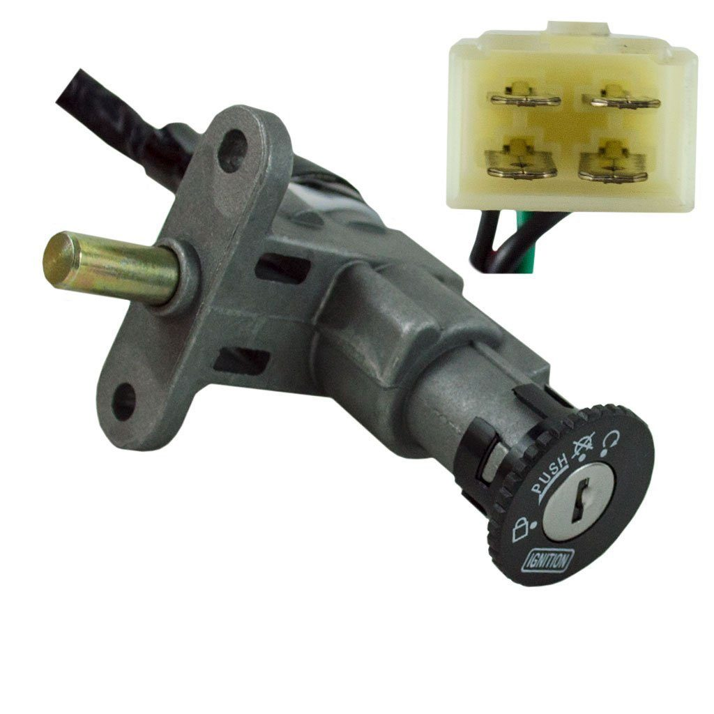 Ignition Key Switch - 4 Wire - GY6 50cc - 150cc Scooters and Mopeds -  Version 38VMC Chinese Parts