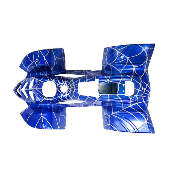 Body Fender Kit for Chinese ATV - 2 piece - Blue Spider - VMC Chinese Parts