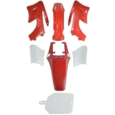 Chinese Apollo Orion Dirt Bike Body Fender Set - 7 piece - RED