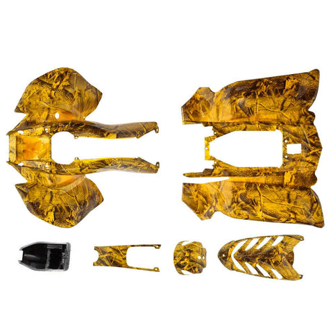 Body Fender Kit for Chinese VX Style ATV - 6 piece - YELLOW CAMO