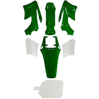 Chinese Apollo Orion Dirt Bike Body Fender Set - 7 piece - GREEN