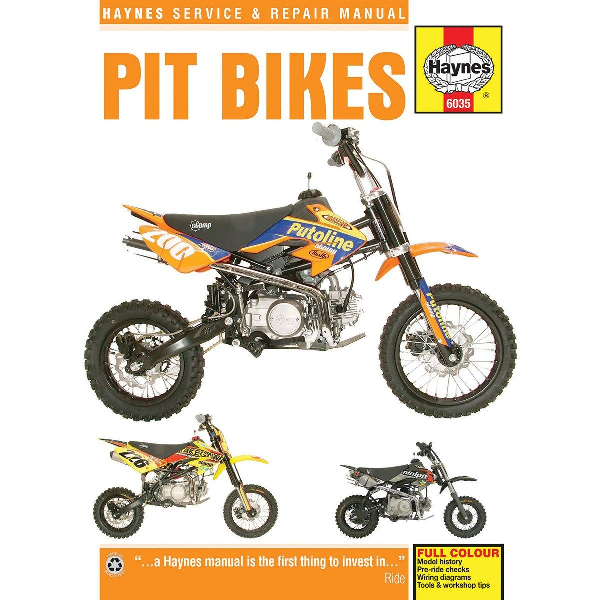 Haynes Pit Bike Manual - 6035 - Chinese 4-Stroke Air-Cooled ... on