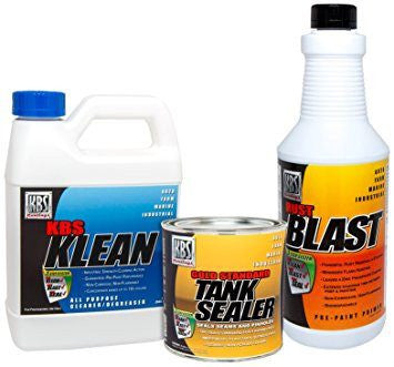 KBS Coatings Cycle Fuel Gas Tank Liner Sealer & Prep Combo Kit - 5 Gallon Tank - [52000]