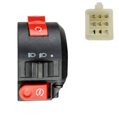 7 Wire Left-Hand Handlebar Starter Switch - Coolster ATV - Version 3125B - VMC Chinese Parts