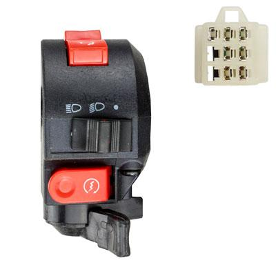7 Wire LH Handlebar Starter Switch with Choke Lever - ATV - Version 7