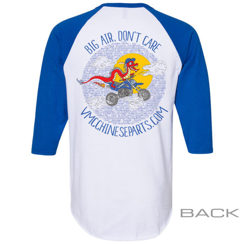 VMC Graphic Baseball Tee - Adult - White and Royal Blue