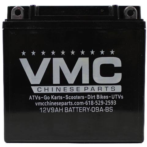Chinese ATV 12 Volt 9Ah Battery Version 9A-BS - VMC Chinese Parts