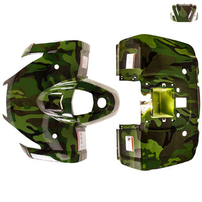 Body Fender Kit for Chinese ATV - 3 Piece - ARMY CAMO - Tao Tao ATA125F1