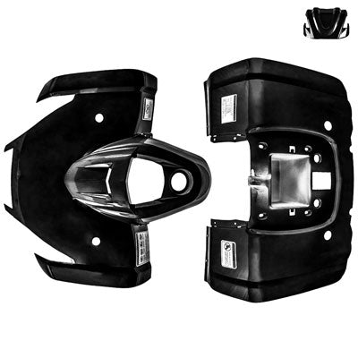 Body Fender Kit for Chinese ATV - 3 Piece - BLACK - Tao Tao ATA125F1 - VMC Chinese Parts
