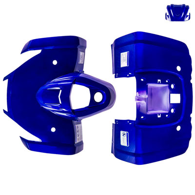 Body Fender Kit for Chinese ATV - 3 Piece - BLUE - Tao Tao ATA125F1