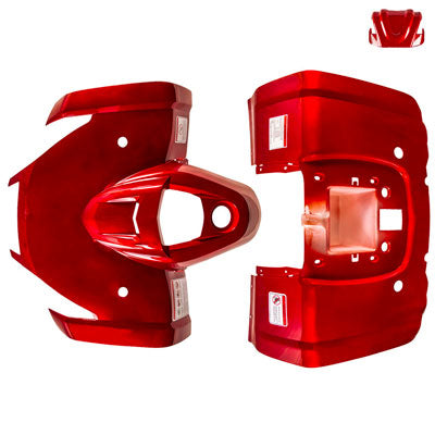 Body Fender Kit for Chinese ATV - 3 Piece - RED - Tao Tao ATA125F1 - VMC Chinese Parts