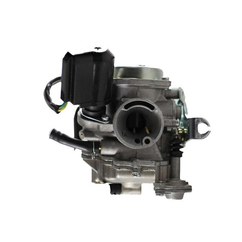 Carburetor PD19J - 19mm with Metal Top and Rubber Drain Line - GY6 50cc QMB139 - Version 31