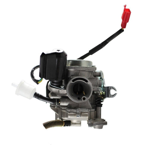 Carburetor PD19J - 19mm with  Metal Top and Spring Drain Line - GY6 50cc - Version 31 SCOOT