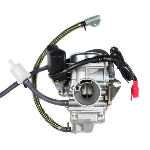 Carburetor PD24J - 24mm with Spring Drain Line - GY6 125cc 150cc - Version 7