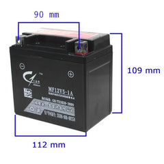 Chinese ATV 12 Volt 5Ah Battery - VMC Chinese Parts