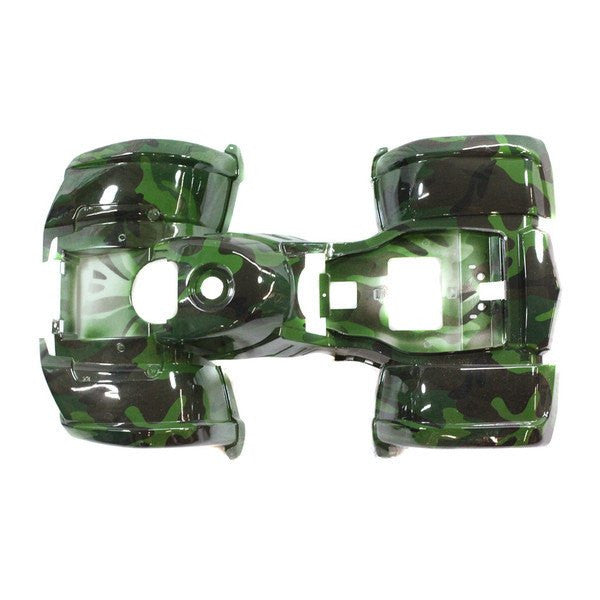 Chinese ATV Body Fender Kit - 1 piece - Green Camo - Trail Utility - VMC Chinese Parts
