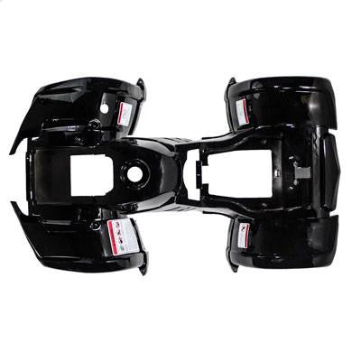 Chinese ATV Body Fender Kit - 1 piece - Black - Trail Utility