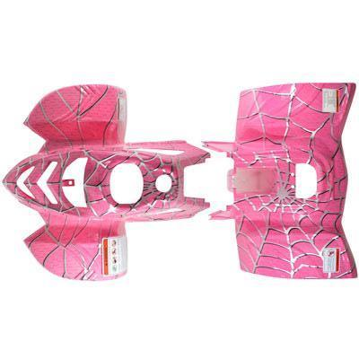 Body Fender Kit for Chinese ATV - 2 piece - Pink Spider - VMC Chinese Parts