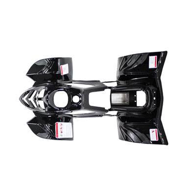 Body Fender Kit for Chinese ATV - 2 piece - Black Shiny - VMC Chinese Parts