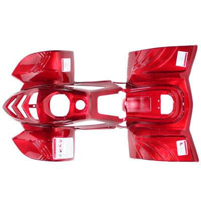 Body Fender Kit for Chinese ATV - 2 piece - Red Shiny - VMC Chinese Parts