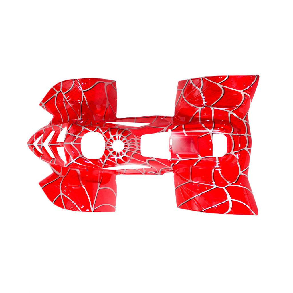 Chinese ATV Body Fender Kit - 2 piece - Red Spider - VMC Chinese Parts