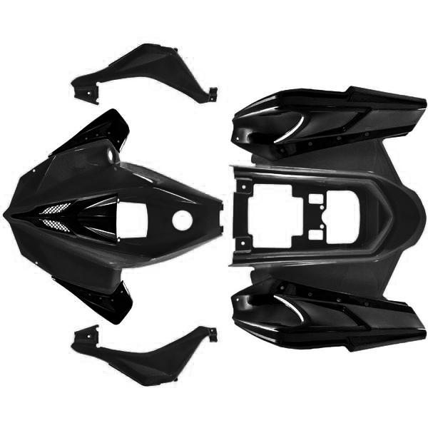 Body Fender Kit for Chinese ATV - BLACK - Taotao ATA125G Cheetah - VMC Chinese Parts