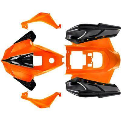 Body Fender Kit for Chinese ATV - Orange - Taotao ATA125G Cheetah