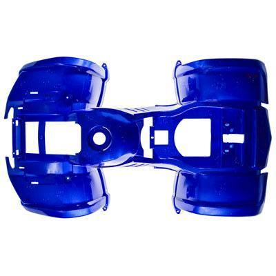 Chinese ATV Body Fender Kit for Coolster 3125B - 1 piece - Blue with Silver Flecks
