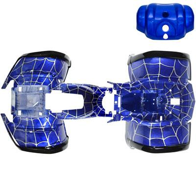 Chinese ATV Body Fender Kit for Coolster 3150, 3150DX, 3150DX-2 - 3 piece - Blue Spider - VMC Chinese Parts