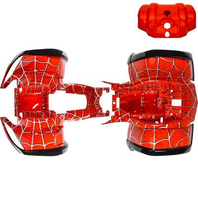 Chinese ATV Body Fender Kit for Coolster 3150, 3150DX, 3150DX-2 - 3 piece - Red Spider