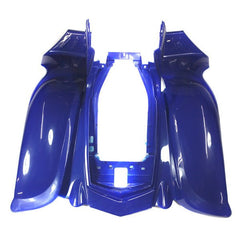 Chinese ATV Front Rear Fender Set for VX - 6 piece - Blue - VMC Chinese Parts